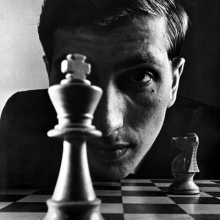 1967 An iconic  picture of the chess champion Bobby Fischer taken in New York